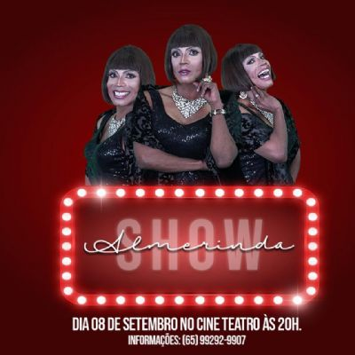 Almerinda retorna com stand up no Cine Teatro Cuiabá