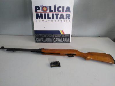 Cavalaria apreende espingarda com 43 munições em Várzea Grande