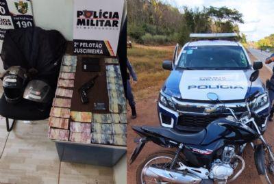 Assaltantes furam barreira policial e tentam se esconder em mata após roubo