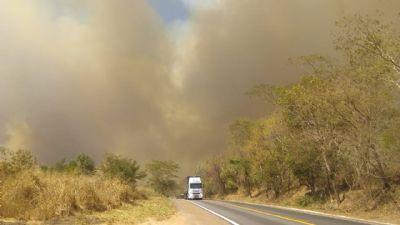 Incêndio atinge aldeia indígena na região de Rondonópolis