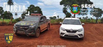Gefron recupera veículo de locadora na fronteira com a Bolívia