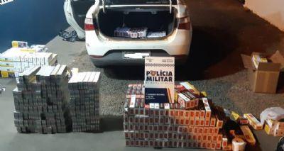 Três homens são presos com 608 caixas de cigarro sem nota fiscal