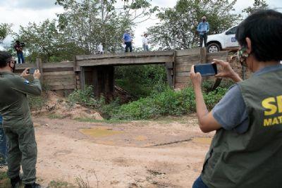 Estado vistoria Baía de Chacororé e identifica intervenções para mitigar seca