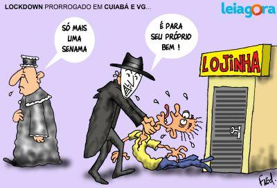 Lockdown prorrogado em Cuiabá e VG