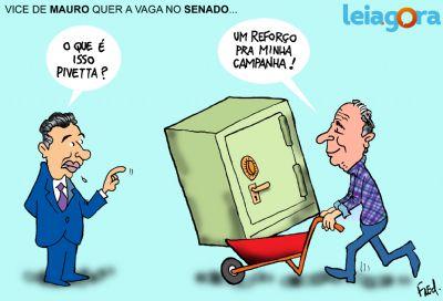 Vice de Mauro quer vaga no Senado