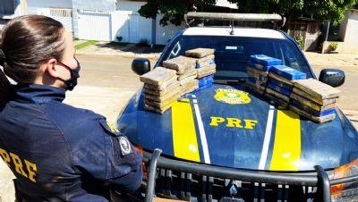 PRF apreende 42 kg de cloridrato de cocaína em Campo Verde