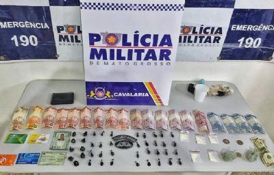 Homem é preso quando traficava na área central de Cuiabá