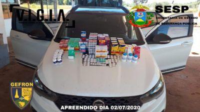 Homem é preso com carregamento de remédios para tratamento da Covid-19