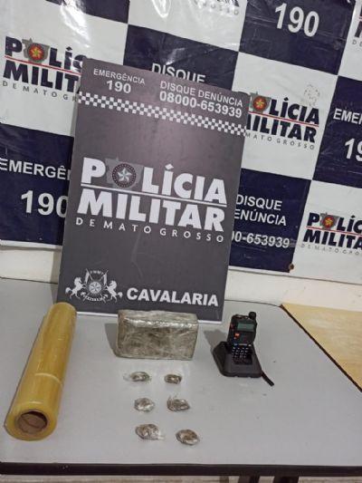 Cavalaria prende jovem de 18 anos por tráfico de drogas