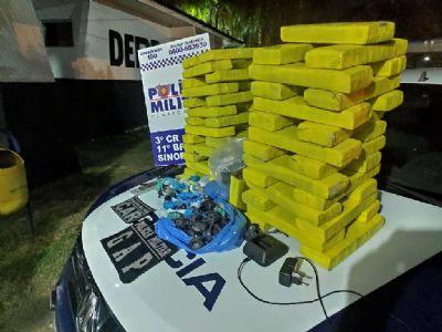 PM prende homem com 42 kg de drogas que pertenceriam à organização criminosa