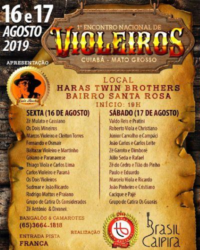 Acontece neste final de semana em Cuiabá o 1° Encontro Nacional de Violeiros