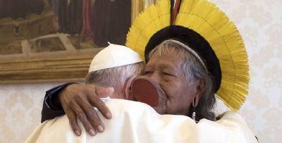 Líder indígena de MT tem encontro com Papa Francisco