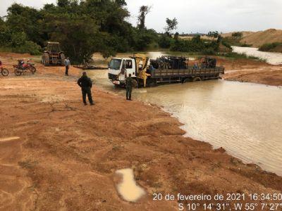 Batalhão Ambiental flagra garimpo ilegal e o multa em R$ 250 mil