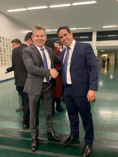 Cada vez mais próximos: vice-prefeito de Cuiabá e governador se encontram em Brasília