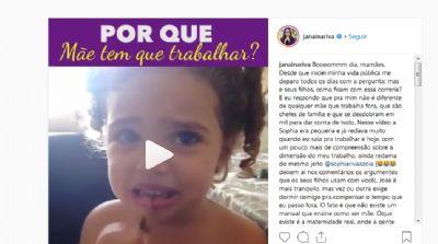 Com um vídeo da filha, Janaína homenageia as mães de Mato Grosso