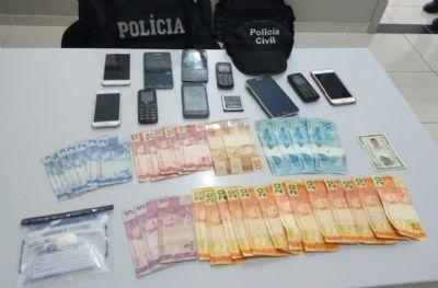 Homem é preso em flagrante por tráfico de drogas durante cumprimento de mandados