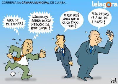 Correria na Câmara Municipal de Cuiabá