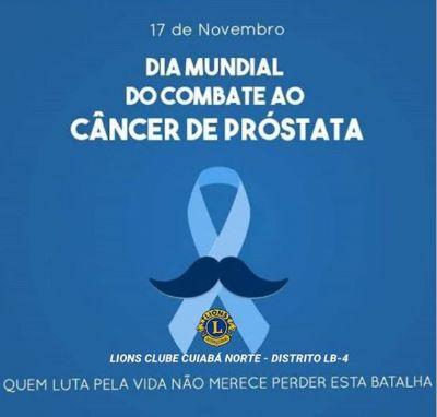 Lions Clube alerta para importância da prevenção ao câncer de próstata