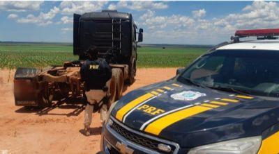 PRF recupera caminhão roubado em Alto Garças