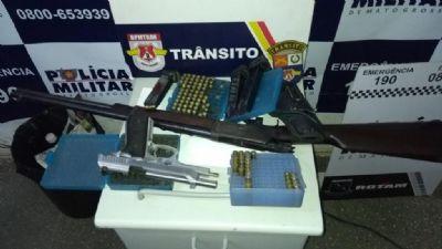 Homem é preso com 213 munições na MT-010