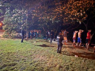 Fiscalização da PM prende dois por corrupção de menores em parque público