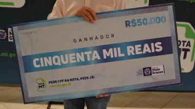 Programa Nota MT sorteia R$ 250 mil em prêmios na segunda-feira