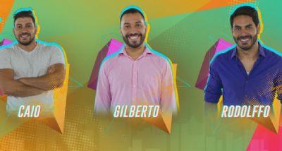 Caio, Gil e Rodolffo formam paredão do 'BBB21'