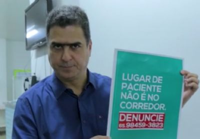 Pinheiro cria central para receber denúncias de pacientes em corredores, Veja vídeo