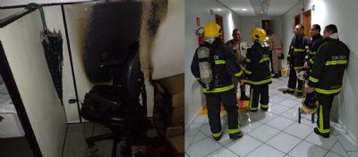 Celular carregando provoca princípio de incêndio no Santa Rosa Tower
