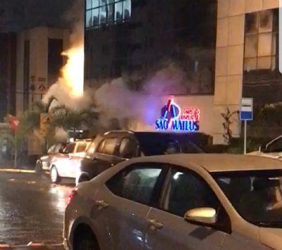 Muita fumaça  gera pânico no Hospital São Mateus; vídeo