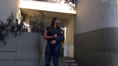'Não morri por sorte', diz Shanna ao sair da Delegacia de Homicídios