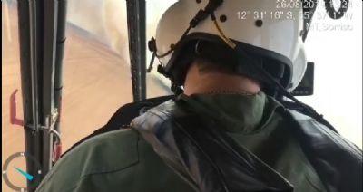 Imagens aéreas mostram dimensão e combate a incêndio em fazenda de MT