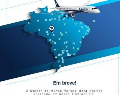 Azul voltará operar em Sorriso