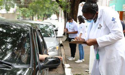 Pontos de vacinação arrecadam alimentos em São Paulo