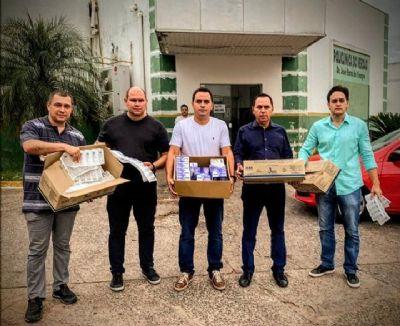 'Prioridade não é bolo, mas a saúde de Cuiabá', dizem vereadores ao distribuírem insumos