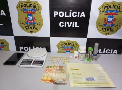 Polícia prende em flagrante idosa de 73 anos e filho por de tráfico de drogas