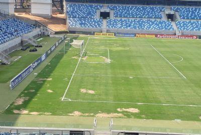 Governo garante troca de parte do gramado e CBF confirma Cuiabá e Londrina para Arena Pantanal